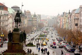 Wenceslas Square today, photo: Štěpánka Budková