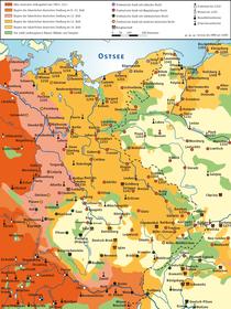 Karte der deutsche Ostkolonisation (Quelle: Ziegelbrenner, CC BY-SA 3.0)