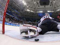 Petr Koukal scores a goal past Ryan Zapolski, photo: CTK