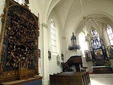 Světelský oltář v kostele sv. Barbory, foto: ČTK
