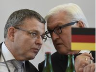Lubomír Zaorálek, Frank-Walter Steinmeier, photo: CTK