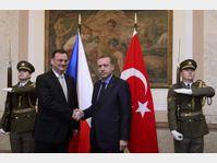 Petr Nečas et Recep Tayyip Erdogan, photo: CTK