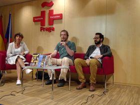 Anežka Charvátová, Vít Kazmar y Rodrigo Blanco Calderón, foto: Ana Briceño