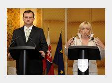 Petr Nečas a slovenská premiérka Iveta Radičová, foto: ČTK