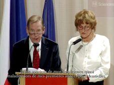 Václav Havel et Zuzana Tomanová, photo: www.sciences-po.fr