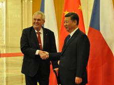 Miloš Zeman, Xi Jinping, photo: CTK