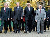 Les présidents des quatre pays au château de Lany, photo: CTK