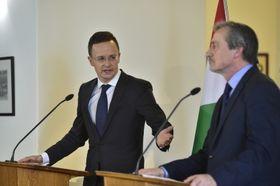Péter Szijjártó y Martin Stropnický, foto: ČTK