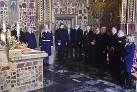 The seven holders of the keys opened the door to the royal treasure, January 15, 2018, photo: CTK