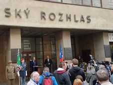 Prague uprising memorial event at Czech Radio's Prague headquarters, photo: Ondřej Tomšů