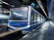 Состав метро «НеВа» на визуализации Škoda Transportation