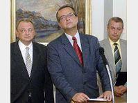 Les chrétiens-démocrates avec Miroslav Kalousek au milieu, photo: CTK