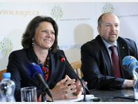 Ilse Aigner und Ivan Fuksa (Foto: ČTK)
