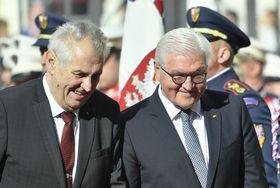 Miloš Zeman et Frank-Walter Steinmeier, photo: ČTK