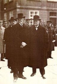 Masaryk mit Švehla (Foto: Archiv Česká pošta)