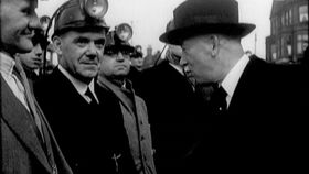 Edvard Beneš in Stoke-on-Trent, screenshot from the film 'A Light Across the Sea'