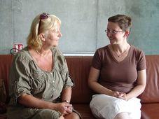 Renata Pešková v rozhovoru s Milenou Štráfeldovou, foto: Miloš Turek