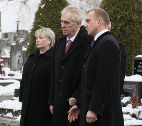 Ивана Земанова, Милош Земан и Владимир Крулиш, фото: ЧТК