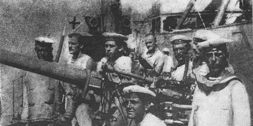 Námořníci rakousko-uherského loďstva v Boce Kotorské, foto: Public Domain