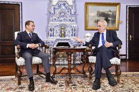 Miloš Zeman et Dmitri Medvedev, photo: ČTK