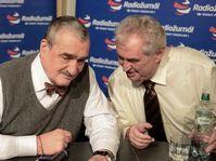 Miloš Zeman et Karel Schwarzenberg, photo: Filip Jandourek, ČRo