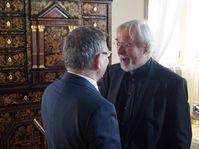 Lubomír Zaorálek und Jürgen Serke (Foto: Archiv des Tschechischen Rundfunks - Radio Prag)