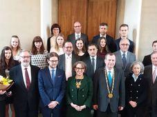 Participantes y organizadores del Premio Iberoamericano 2017, foto: Carlos Ferrer