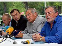 Jan Kacer, Vladimir Stoy, Jan Zizka, Erazim Kohak (de droite), photo: CTK
