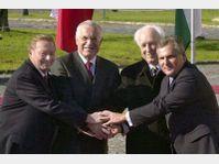 Rudolf Schuster, Vaclav Klaus, Ferenc Madl et Aleksander Kwasniewski (Photo: CTK)
