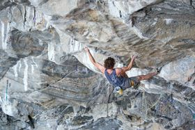Adam Ondra at Hanshelleren cave in Flatanger, Norway, photo: CTK