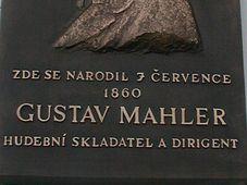 Mahlers Gedenktafel (Foto: Martina Schneibergová)