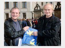 Borek Sipek et Michael Kocab, photo: CTK