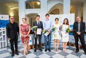 """Die Teilnehmer des Finales (Foto: David Brunner, Archiv von """"Jugend debattiert"""")"""