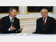 Christian Wulff et Václav Klaus, photo: CTK