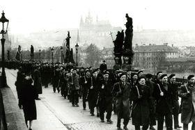 Czechoslovak People's Militia, February 1948, photo: archive of Czech Radio