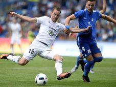 Jan Chramosta (FK Mladá Boleslav) and  Ondřej Karafiát (Slovan Liberec), Photo: ČTK