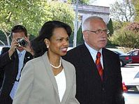 Condoleeza Rice et Vaclav Klaus, photo: CTK