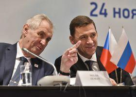 Милош Земан и губернатор Свердловской области Евгений Куйвашев, Фото: ЧТК