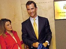 Prince Felipe avec son épouse Letizia, photo: CTK