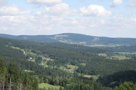 Böhmerwald (Blick von Churáňov). Foto: Martina Schneibergová