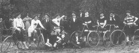 Radfahrabteilung der Sportklub Slavia Prag (Foto: Archiv SK Slavia Prag)