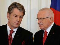 Viktor Iouchtchenko et Václav Klaus, photo: CTK