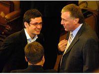 Ondrej Liska et Mirek Topolanek, photo: CTK