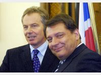 Tony Blair et Jiri Paroubek, photo: CTK