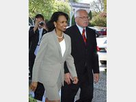 Condoleeza Rice et Vaclav Klaus, photo: CTK