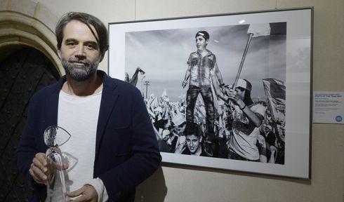 """Martin Bandžák und sein Foto mit dem Titel """"Hizballáh"""" (Foto: ČTK)"""