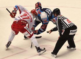 Матч «Хомутов» – «Тршинец», слева Мартин Ружичка, Фото: ЧТК