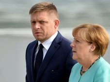 Robert Fico, Angela Merkel, photo: CTK