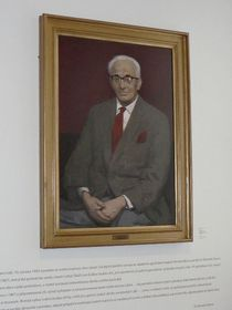 Barnett Stross' portrait in Lidice museum, photo: Jana Káninská