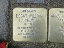 Stolperstein für Edgar Hahnewald in Dresden (Foto: Paulae, CC BY-SA 3.0)